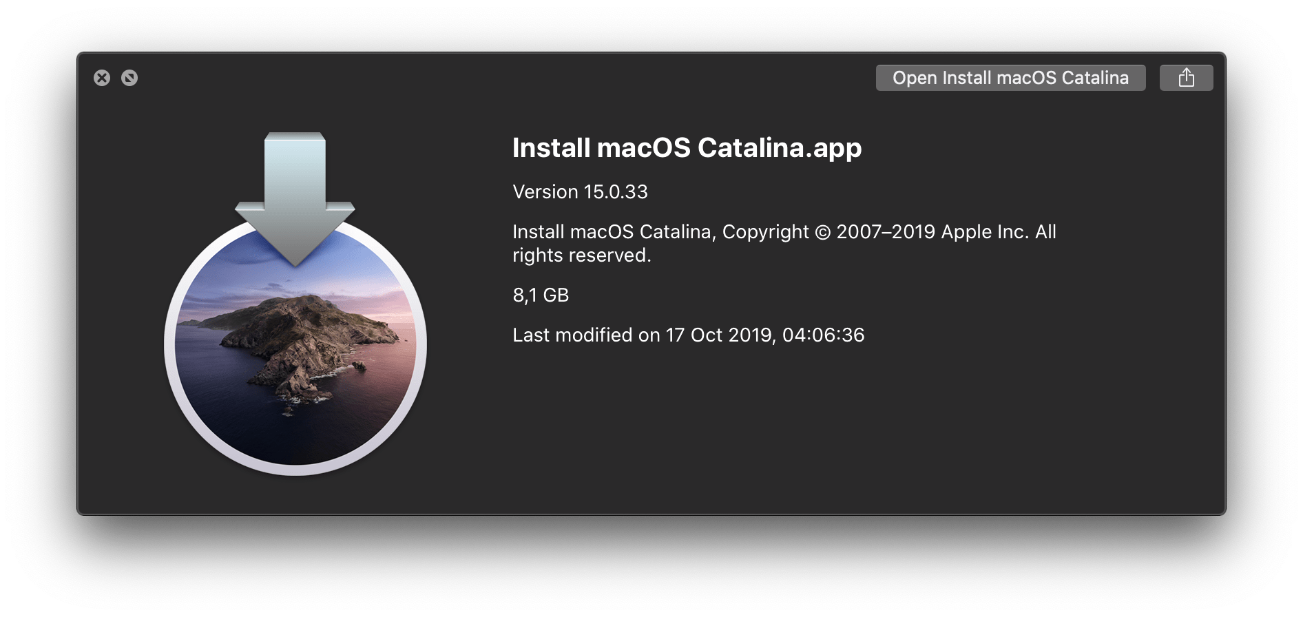 How to create a bootable USB drive with macOS Catalina installer