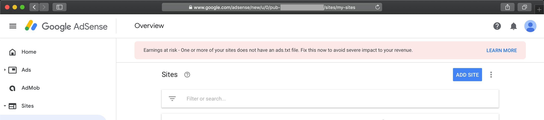 How to fix an ads.txt alert in Google AdSense account