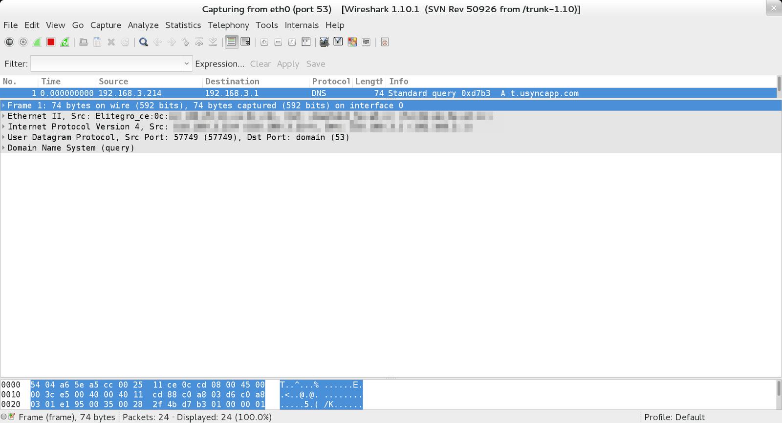 Проверка на утечку DNS (DNS leak)
