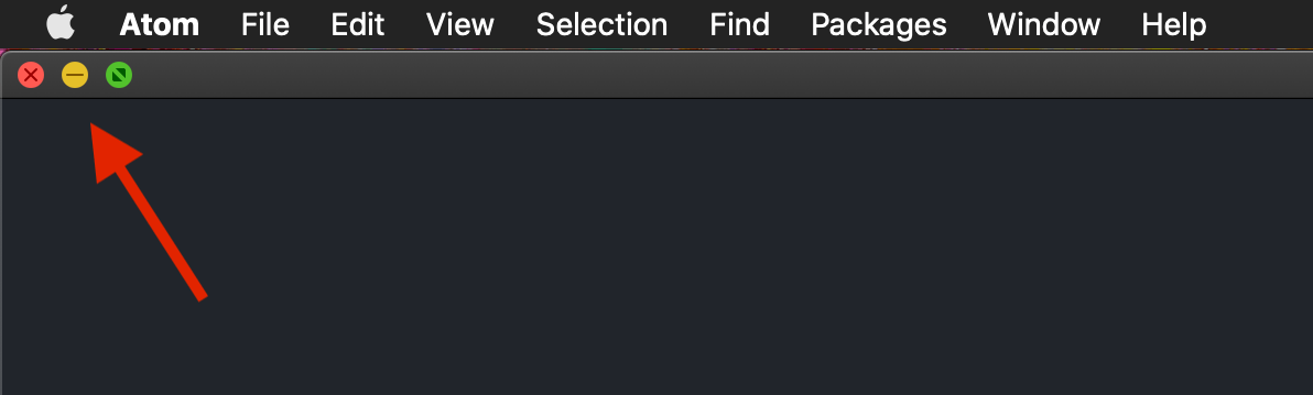 How to fix: Missing window of Atom application