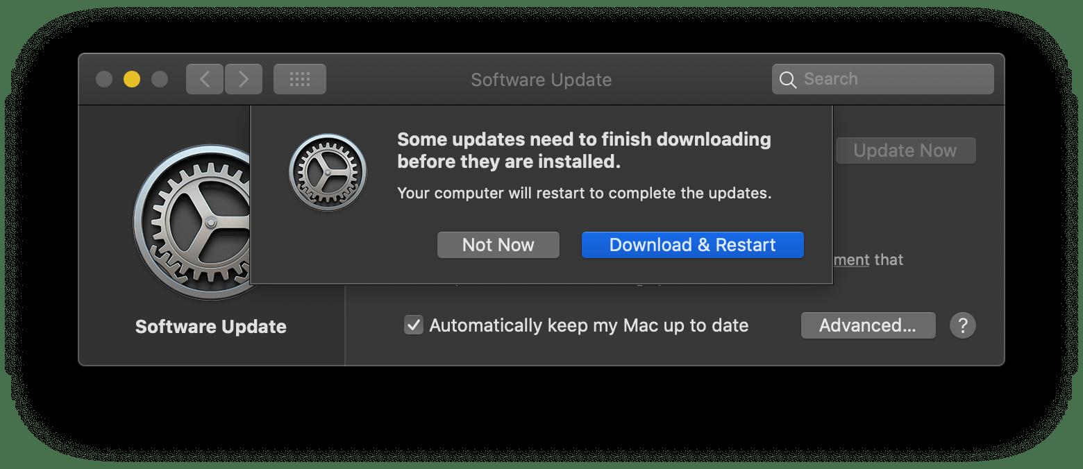 Как установить обновления для программного обеспечения macOS на вашем Mac