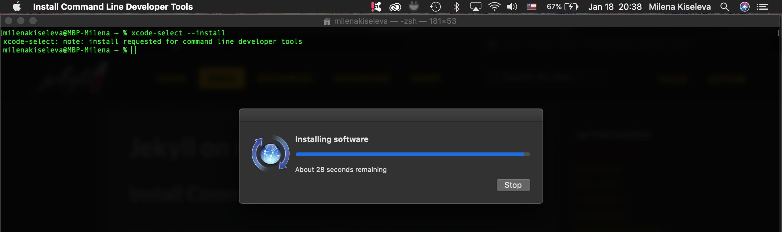 Как установить инструменты для работы с Jekyll в macOS