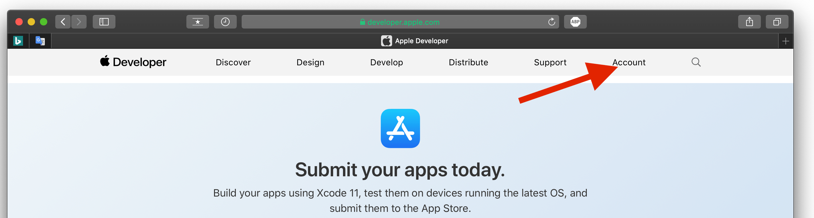 How to register at developer.apple.com