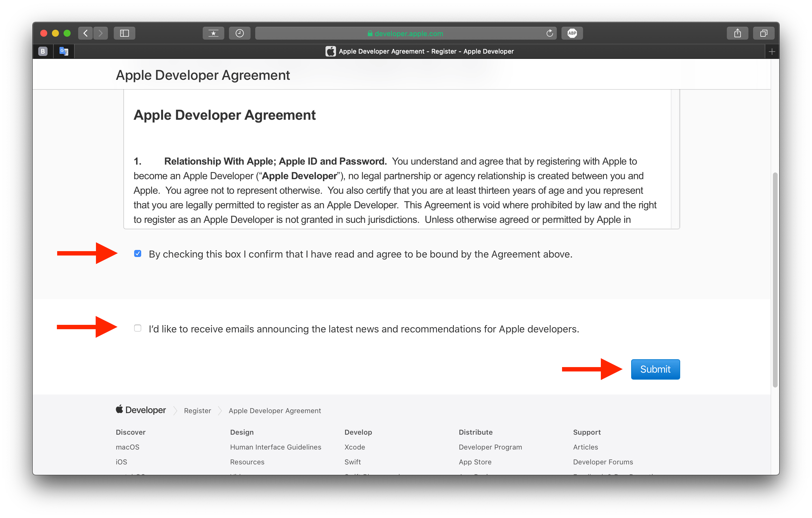 Як зареєструватися на developer.apple.com
