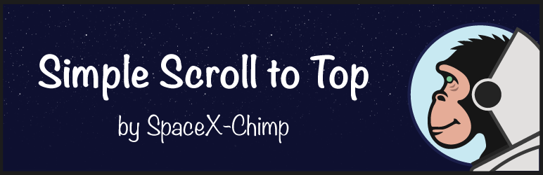 "WP plugin ""Simple Scroll to Top Button"" by SpaceX-Chimp"