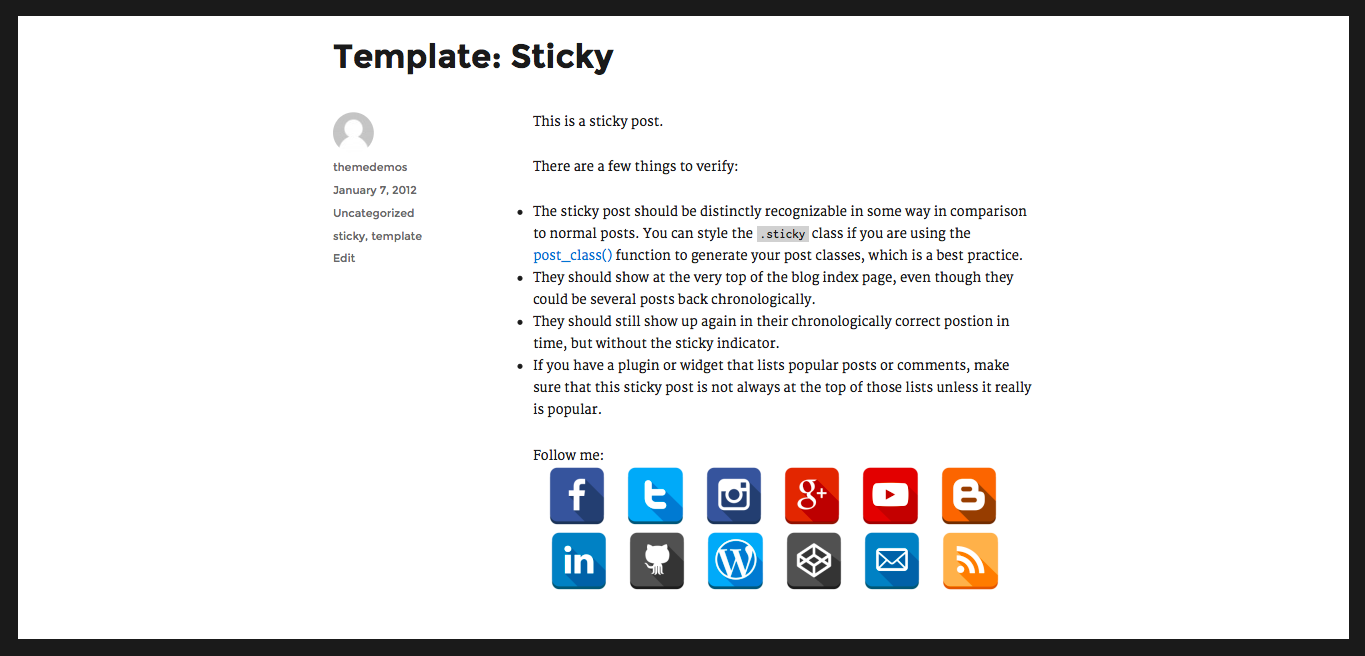 "WP plugin ""Social Media Follow Buttons Bar"" by Space X-Chimp"
