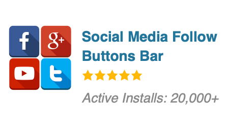 Social Media Follow Buttons Bar
